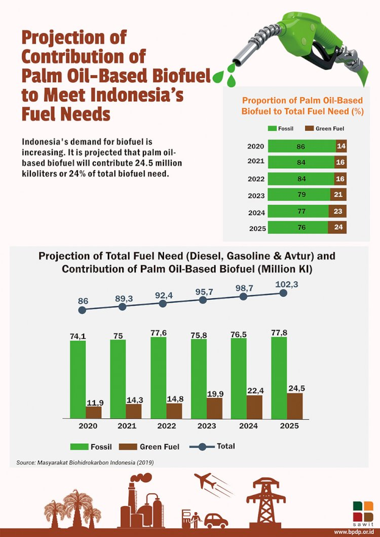 Projection of Contribution of Palm Oil-Based Biofuel to Meet Fuel Needs