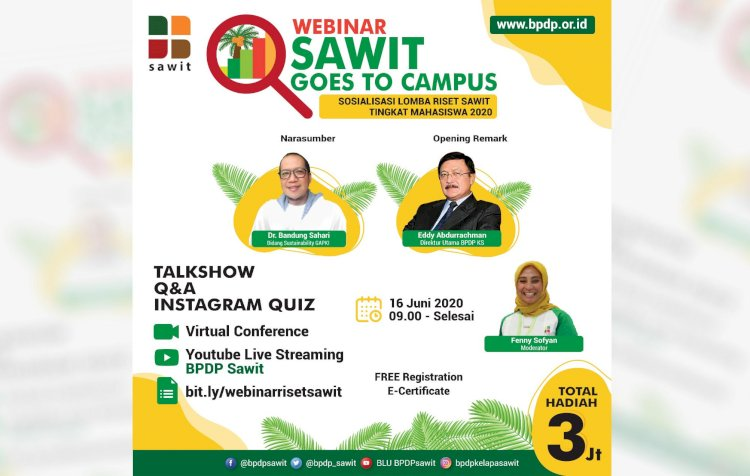 Webinar Sawit Goes to Campus