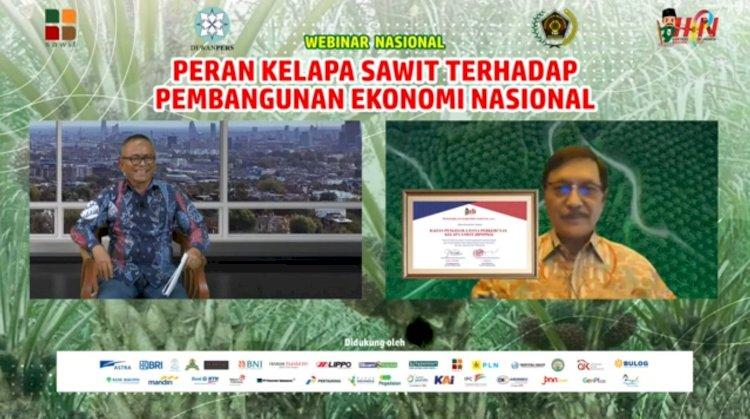 Insan Pers Menyampaikan Penghargaan kepada BPDPKS pada Hari Pers Nasional 2021