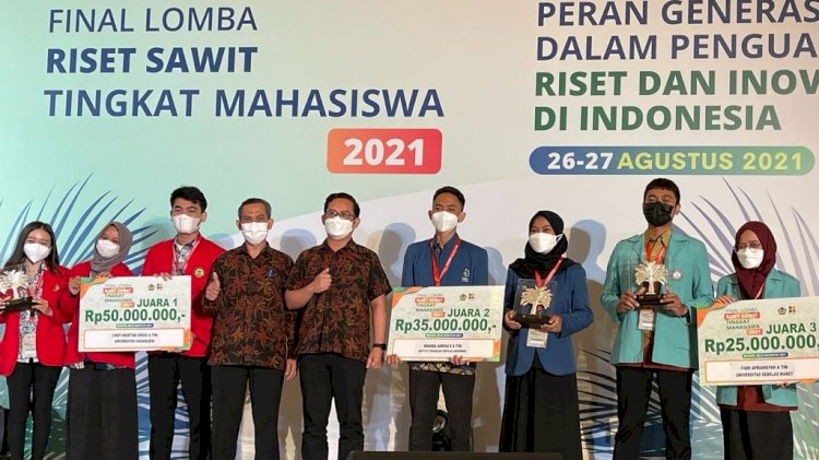 Pemenang Lomba Riset Sawit Tingkat Mahasiswa BPDPKS Tahun 2021