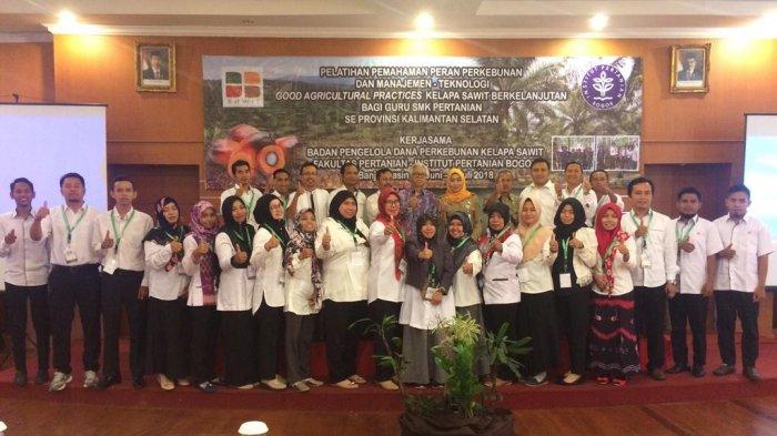 BPDPKS dan IPB Gelar Pelatihan Sawit Bagi Guru Pertanian di Kalsel
