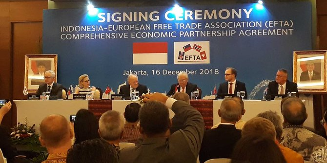 Indonesia-EFTA Jalin Kemitraan Ekonomi Komprehesif