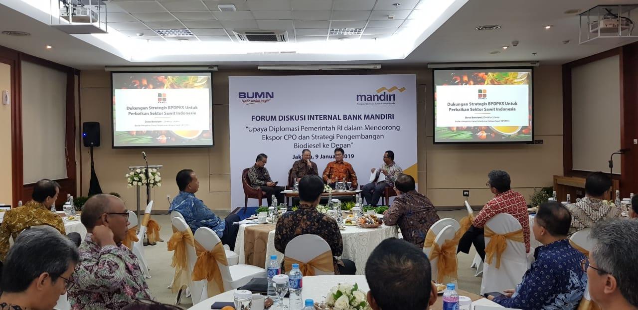 Bank Mandiri Gelar Diskusi Diplomasi Sawit dan Pengembangan Biodiesel
